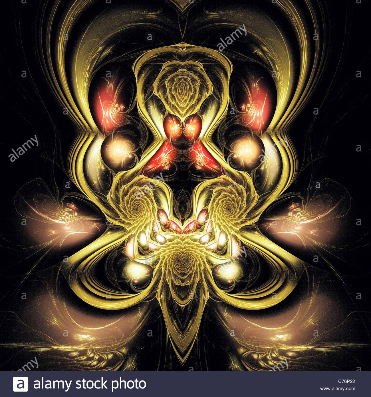 Visualisation numérique d'un fractal Photo Stock