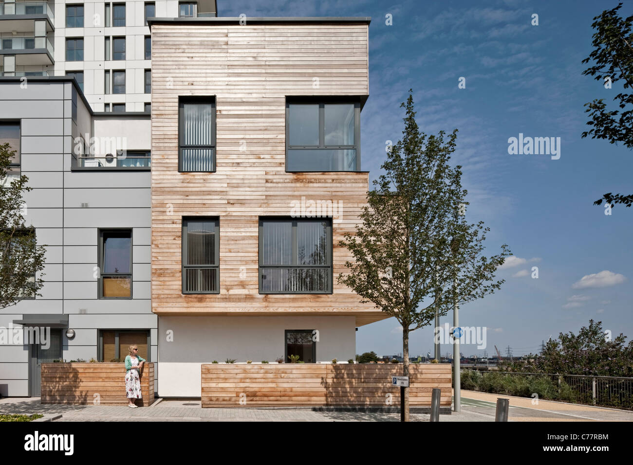 City Apartments Tunjic à Greenwich, Londres. Photo Stock