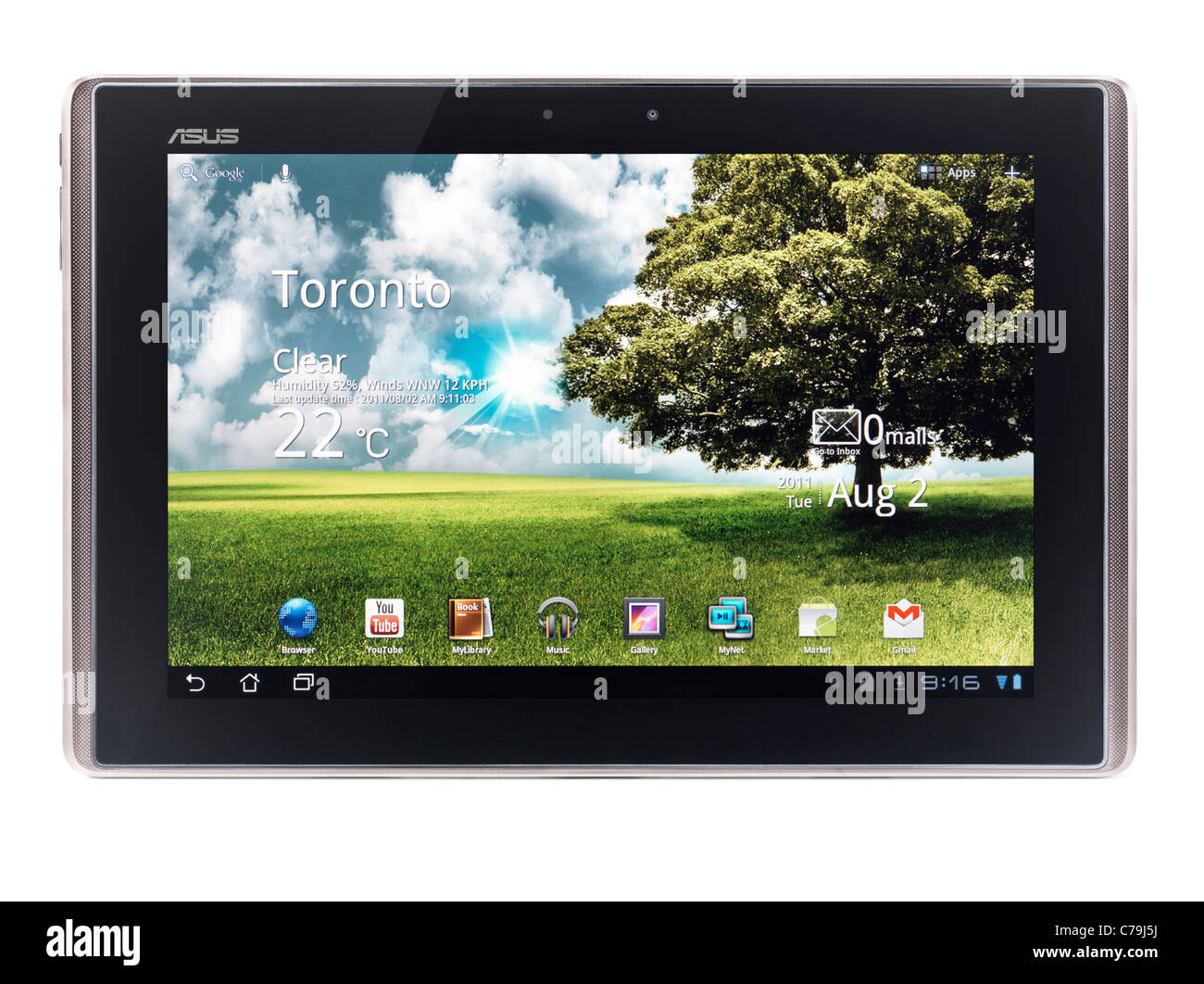 ASUS Eee Pad Transformer TF101 Android Tablet ordinateur isolé sur fond blanc avec clipping path Photo Stock