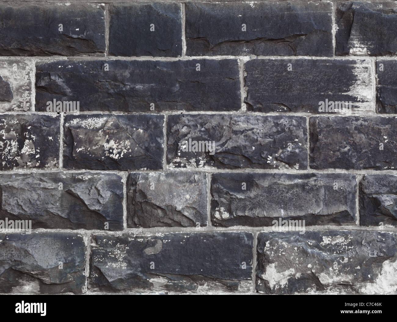 Vieux Mur de pierre de style gothique texture background. Photo haute résolution de haute qualité. Photo Stock