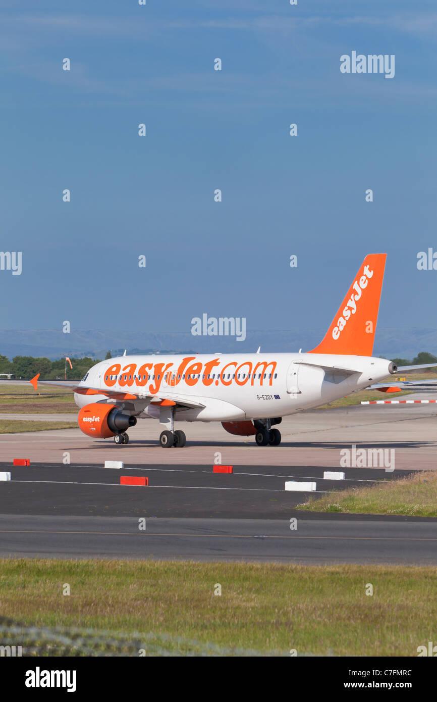 Un avion d'EasyJet, Angleterre Photo Stock