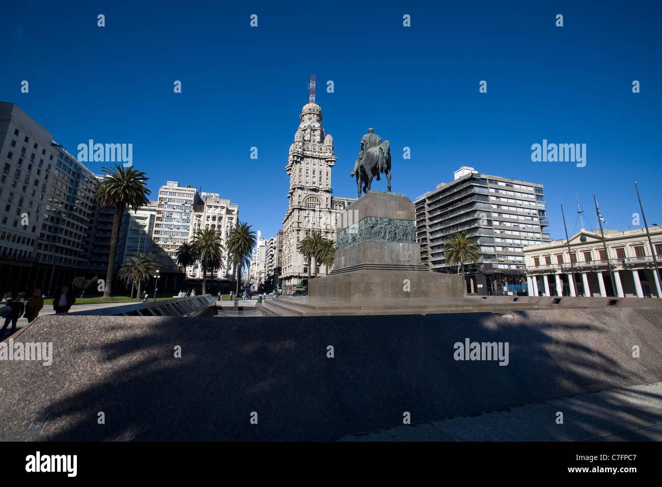 Plaza Independecia, Montevideo Uruguay Photo Stock