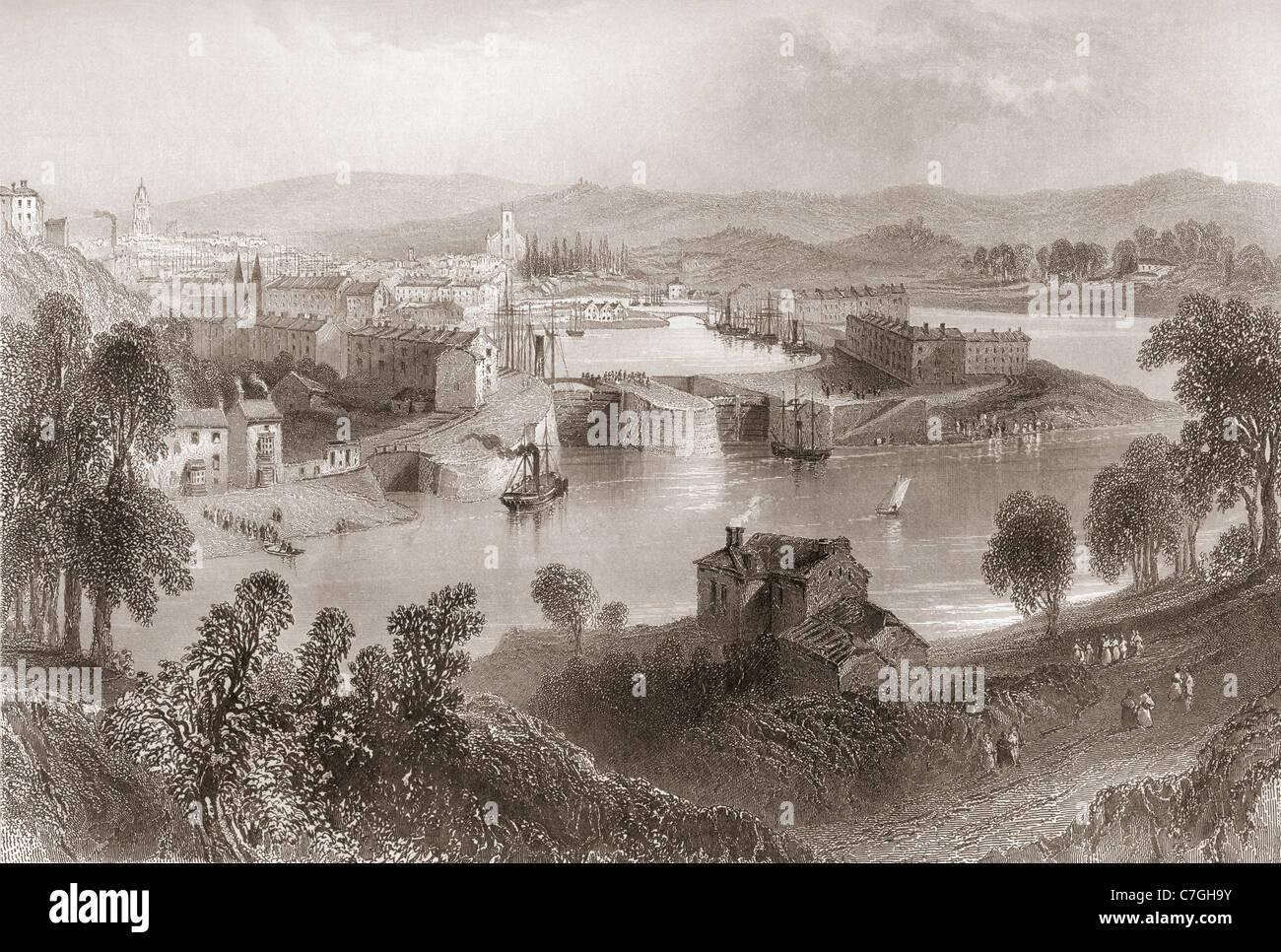 Bristol, Angleterre au début du xixe siècle. Photo Stock