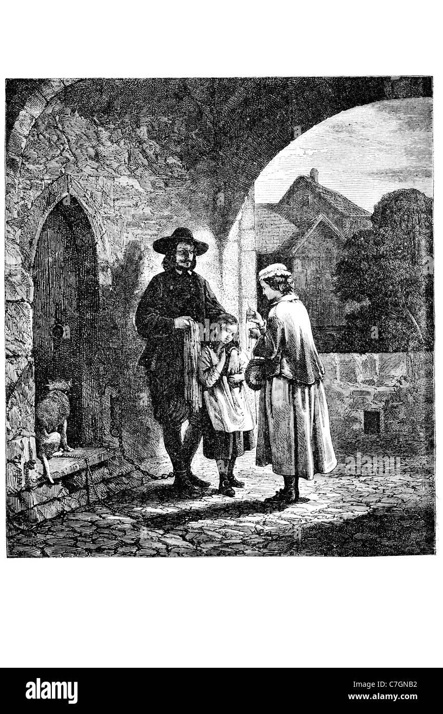 L'Anglais John Bunyan écrivain chrétien prédicateur célèbre écrivain écriture auteur The Pilgrim's Progress Baptiste Réformée Banque D'Images