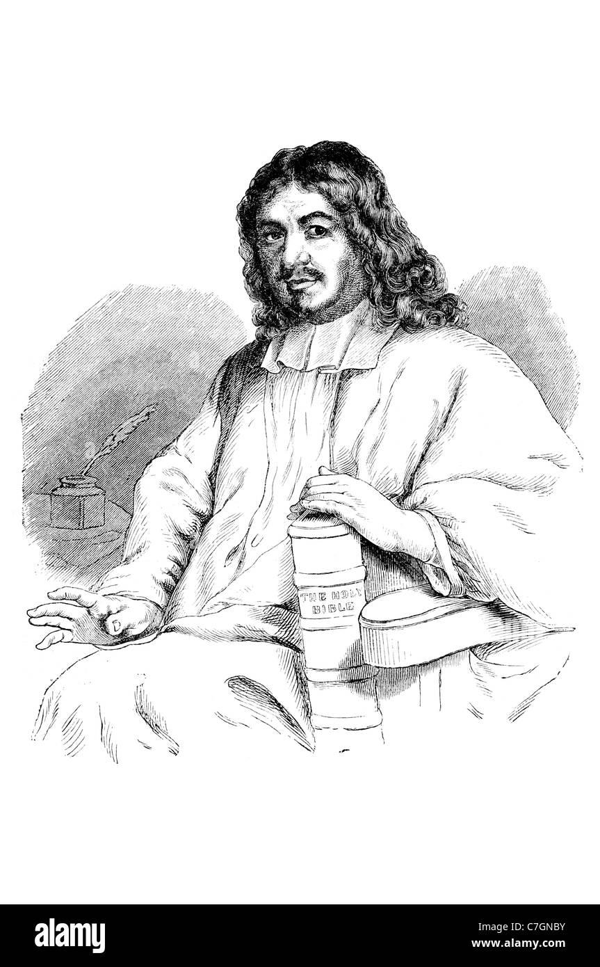 John English Portrait écrivain chrétien prédicateur célèbre écrivain écriture auteur The Pilgrim's Progress Église Baptiste Réformée Banque D'Images