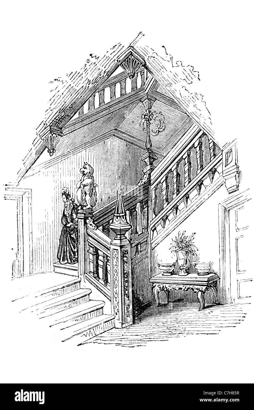Maison Anglaise Charlton House Batiment En Brique Rouge De Style