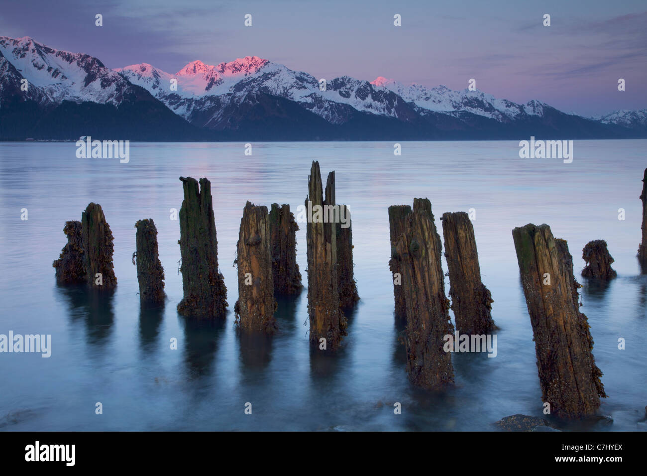 Résurrection Bay, Seward, Alaska. Photo Stock