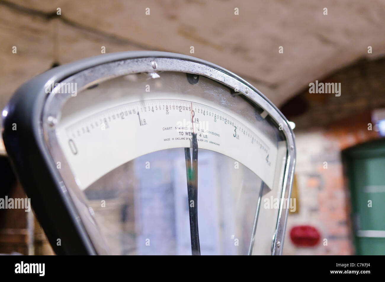 Old fashioned British shop scales Photo Stock