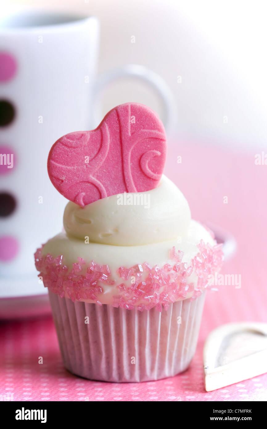 Amour de Cupcake Photo Stock