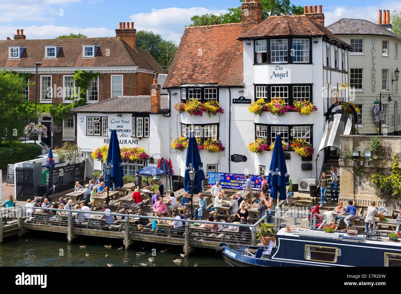 L'Ange Pub sur la Tamise à Henley-on-Thames, Oxfordshire, England, UK Photo Stock