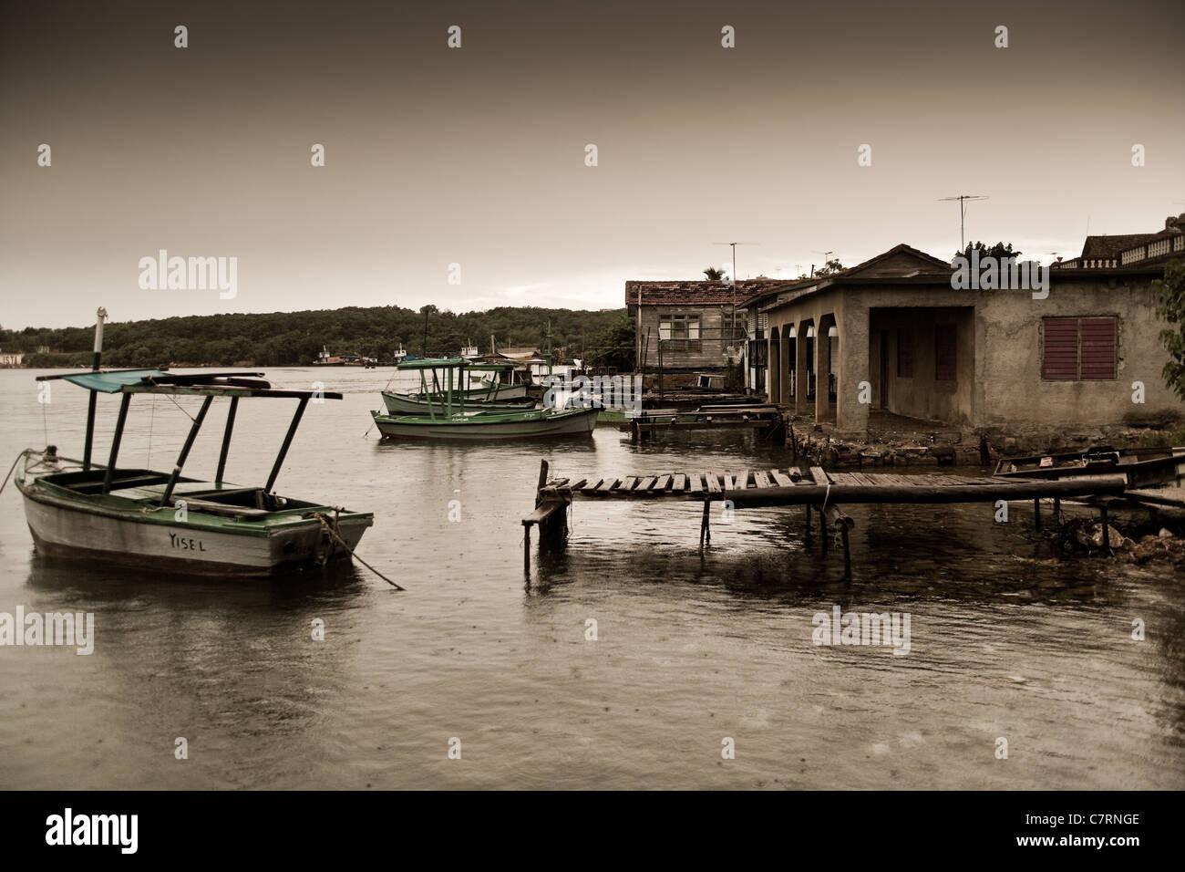 Station de Port de Jagua à Cienfuegos Cuba Banque D'Images