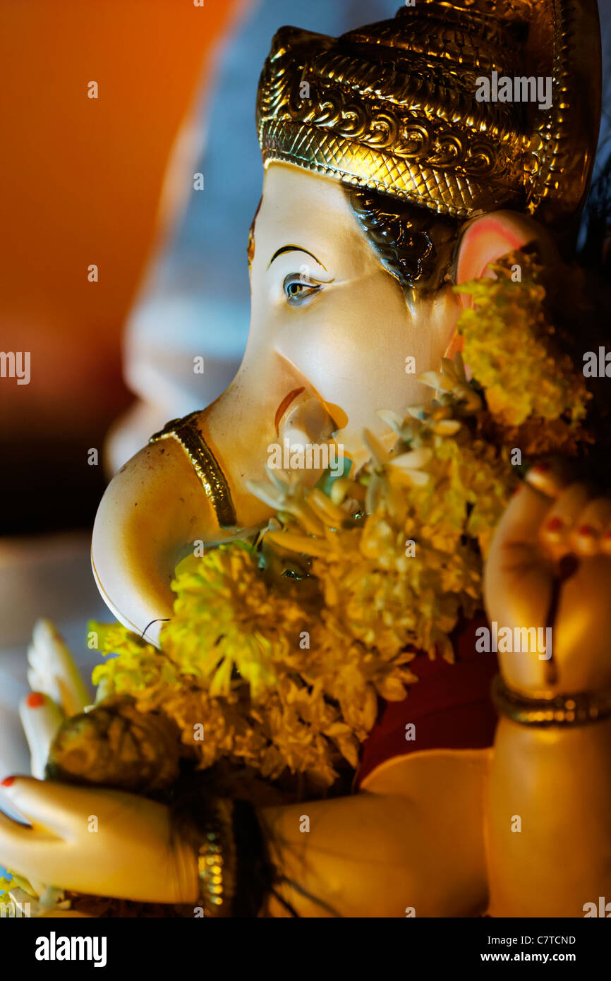 Dieu Ganesha à Ganesh Festival, Inde. Photo Stock