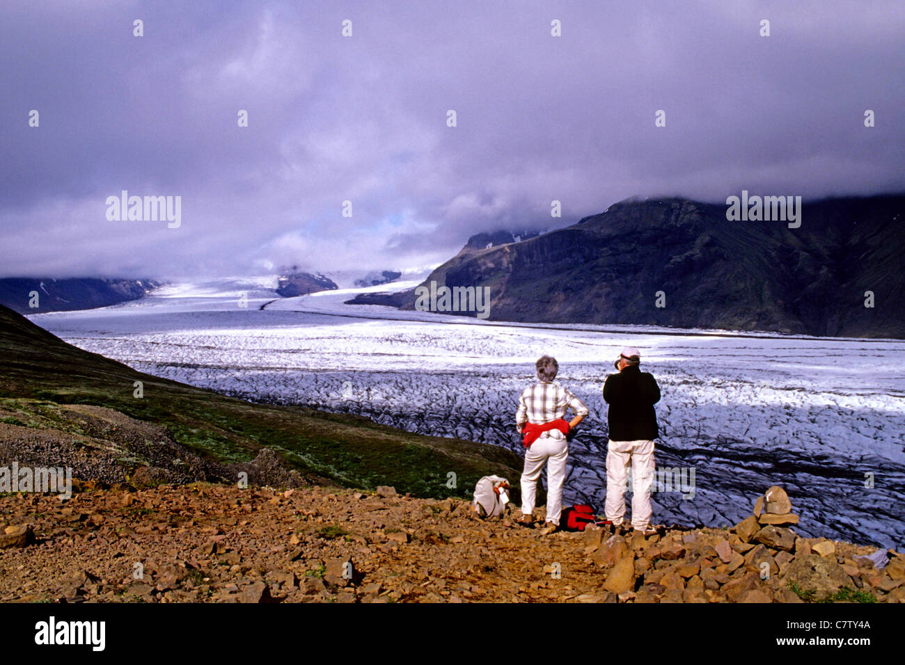 Islande - glacier Vatnajokull Photo Stock