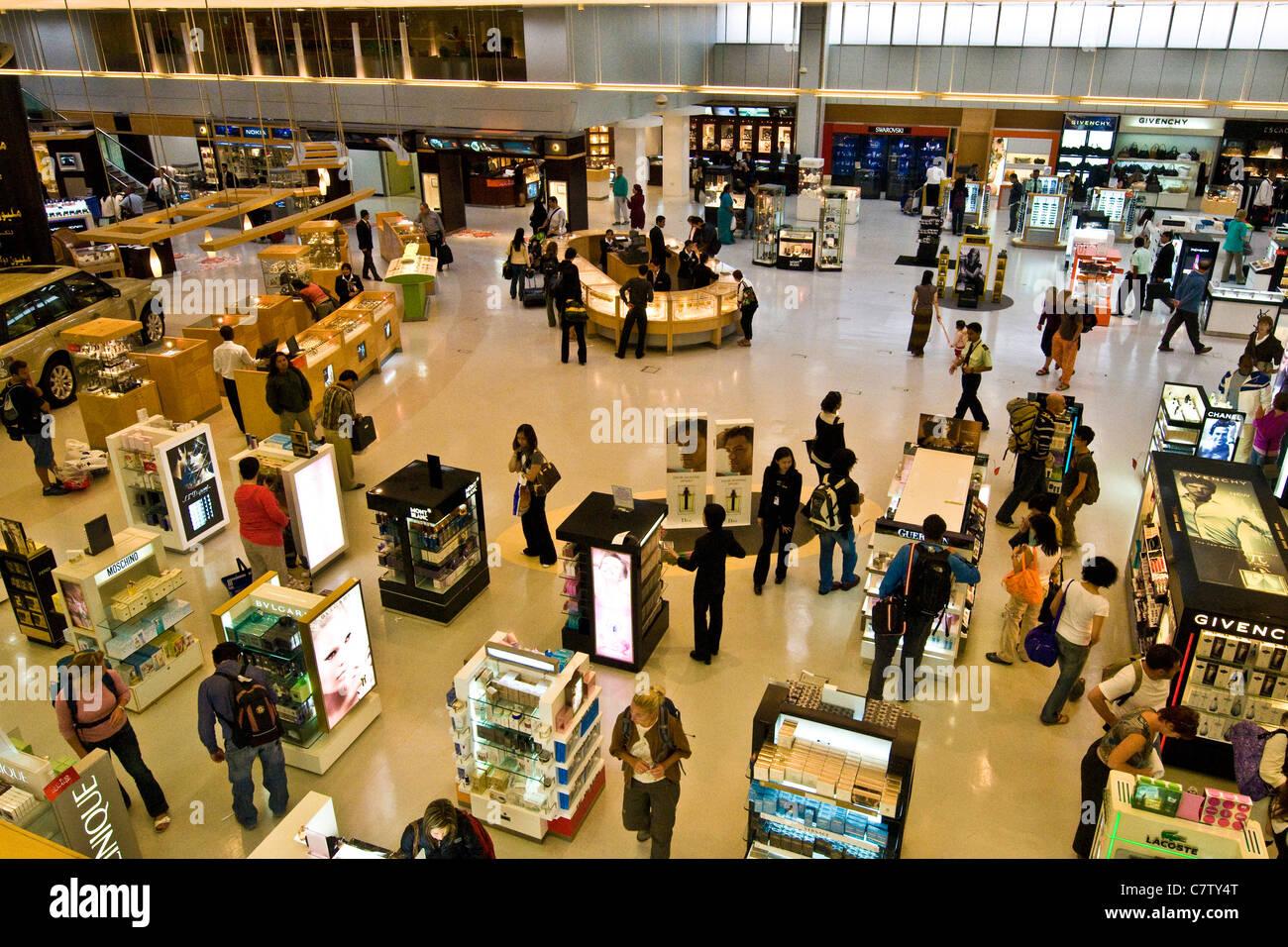 Le Qatar, l'aéroport de Doha. Duty free shop salon Banque D'Images