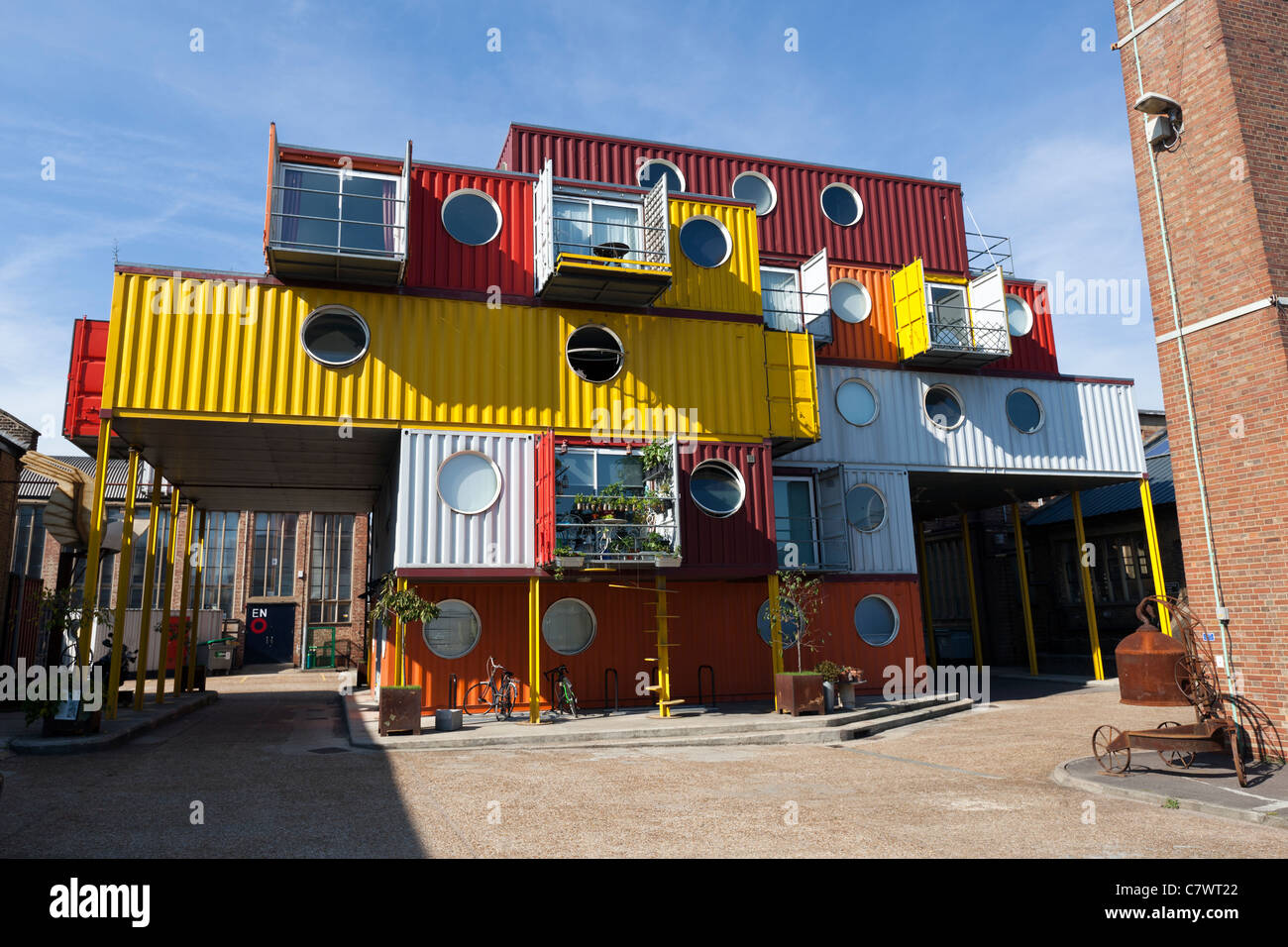 Container City, Trinity Buoy Wharf, Tower Hamlets, London, England, UK. Photo Stock