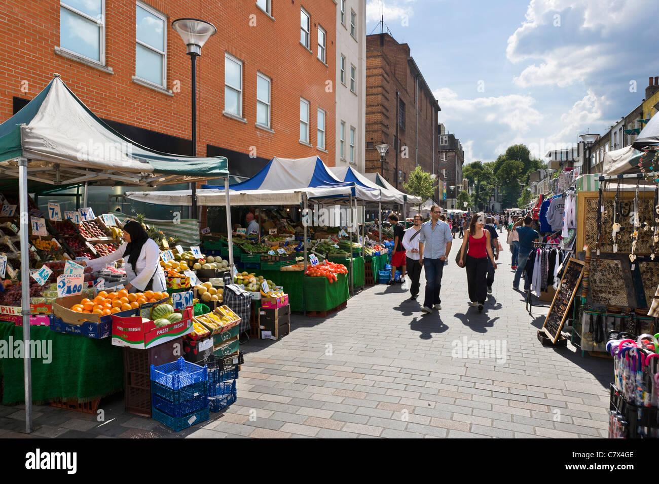 Cale à Inverness Street Market, Camden Town, au nord de Londres, Angleterre, RU Photo Stock