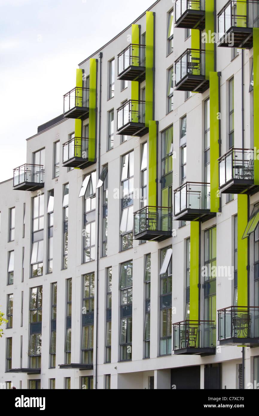 Les appartements de l'hémisphère, le Boulevard, EDGBASTON. Calthorpe Estate, Birmingham, Angleterre Photo Stock