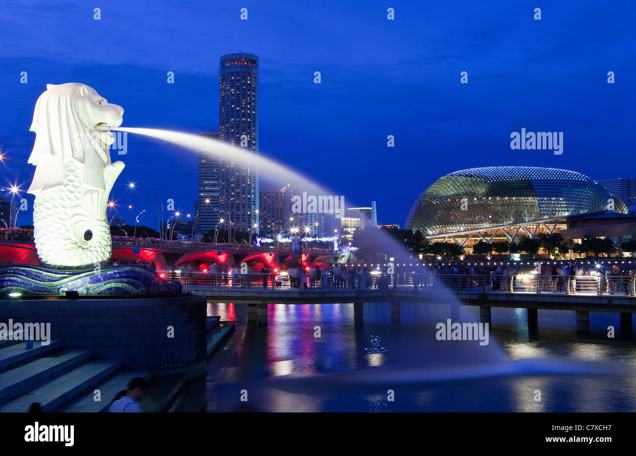 La statue du Merlion, Singapour Banque D'Images