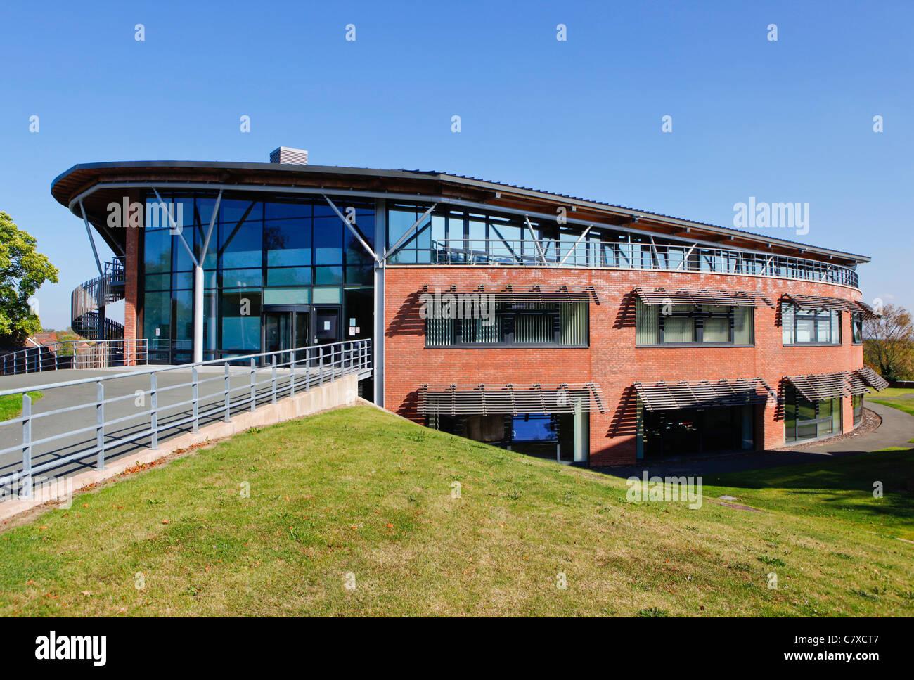 E-innovation centre de l'Université de Wolverhampton, Telford, Shropshire Campus. Photo Stock