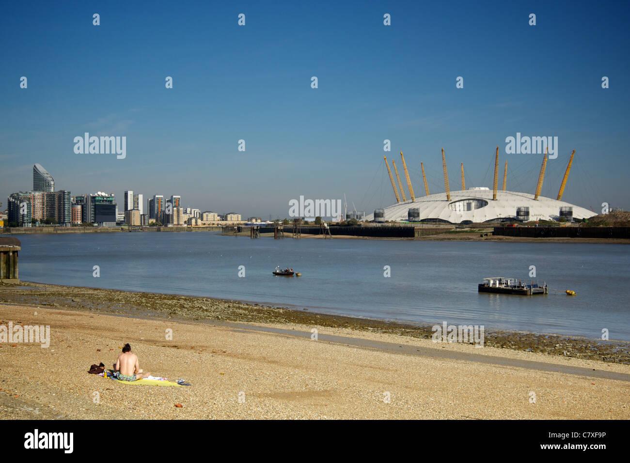 La chaleur d'automne, Londres, octobre 2011 Banque D'Images