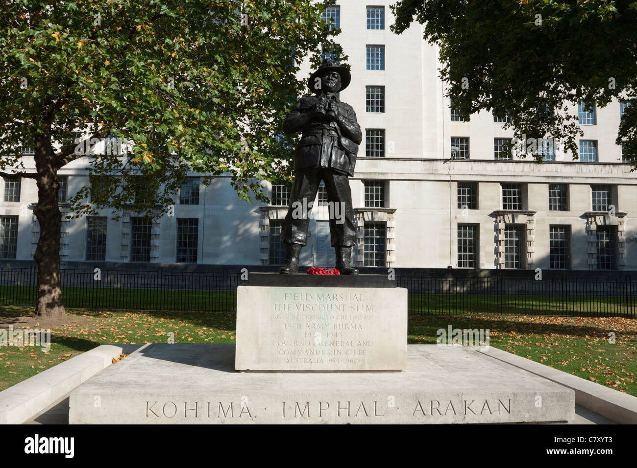 Statue de Viscount Slim, Whitehall, Westminster, London, England, UK Photo Stock