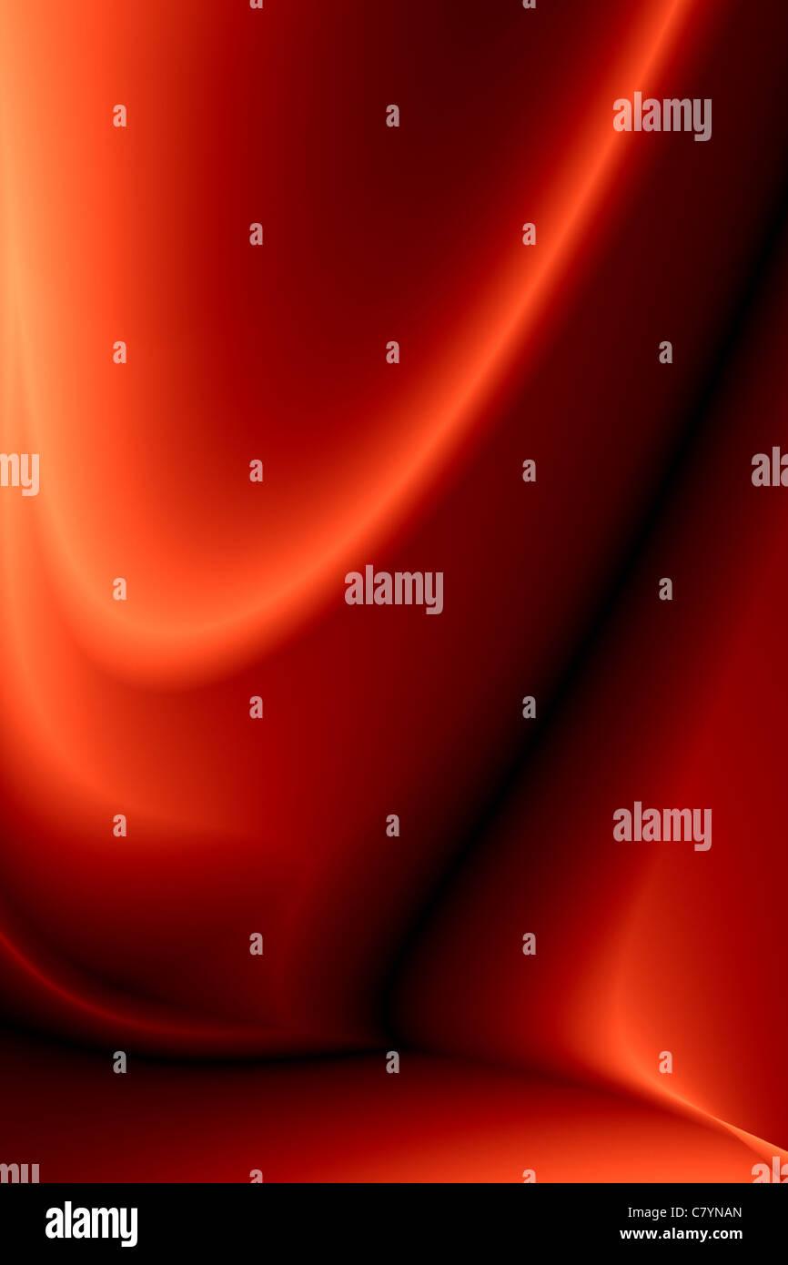 Rouge élégant satin de soie froissé comme arrière-plan Photo Stock