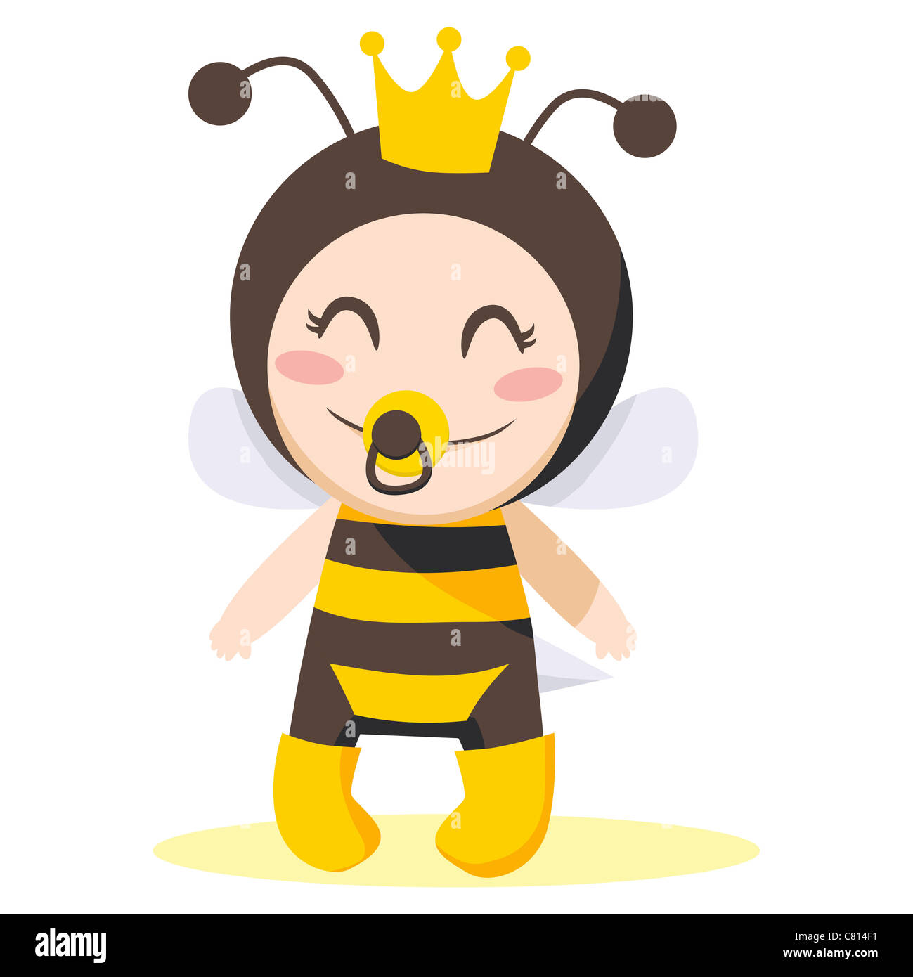 Sweet cute baby girl wearing costume reine des abeilles