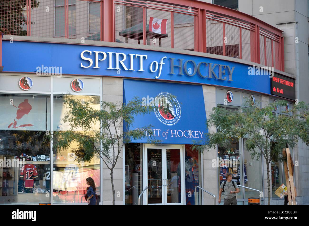 Esprit de magasin de hockey, à côté du temple de la renommée du hockey, à Toronto Photo Stock