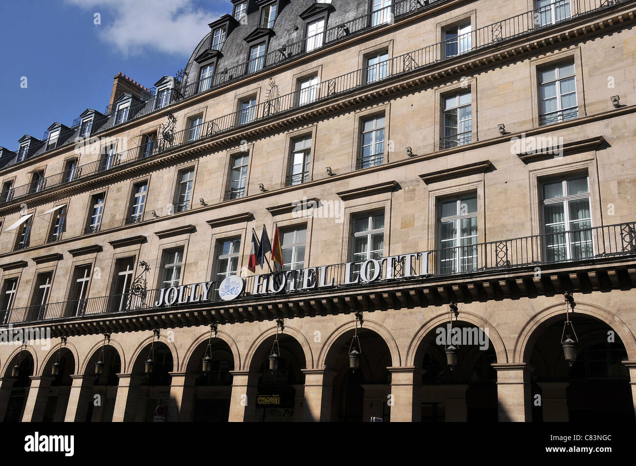 Jolly Hotel Lotti Paris France Photo Stock