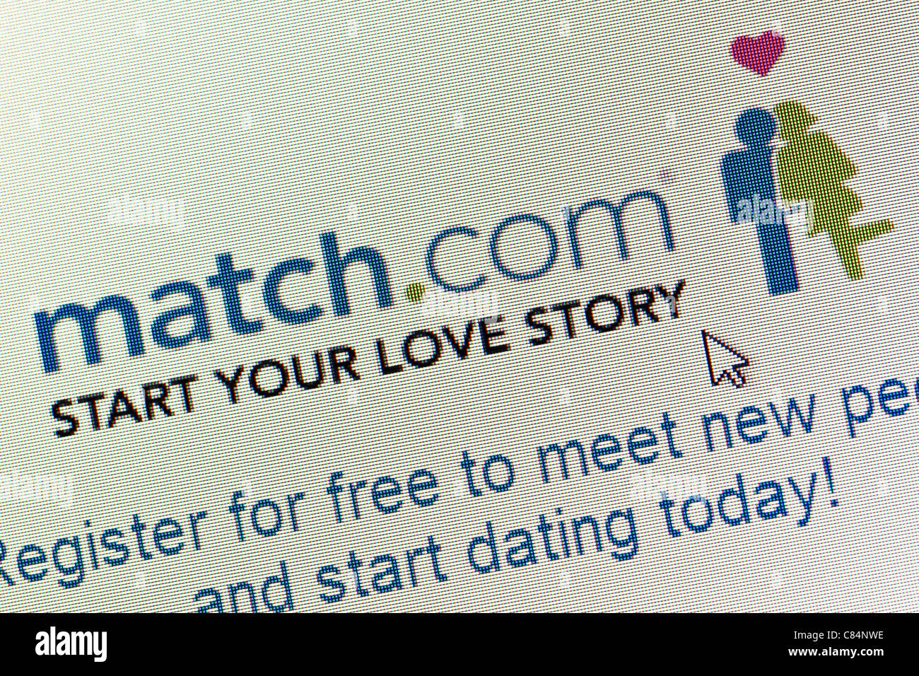 Logo site match.com et close up Photo Stock