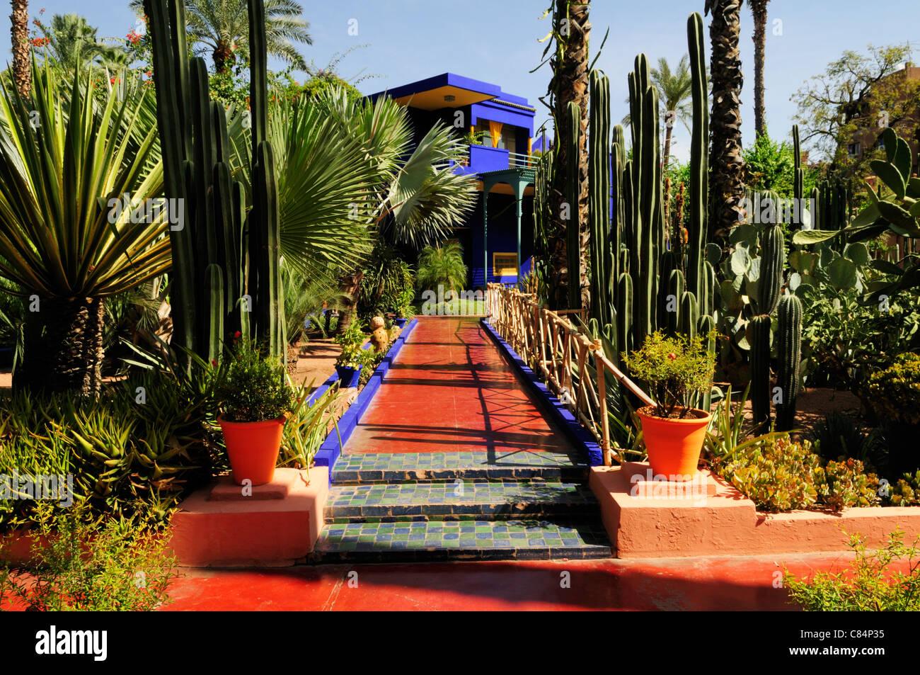 Jardin Majorelle Marrakech Maroc Banque D Images Photo Stock