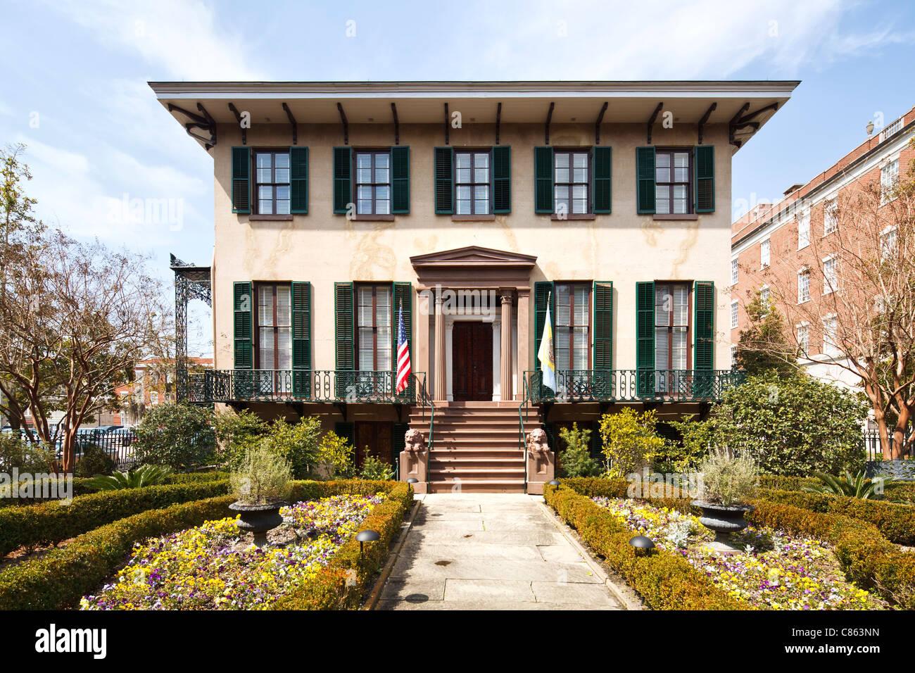 Andrew Low house, Savannah Photo Stock