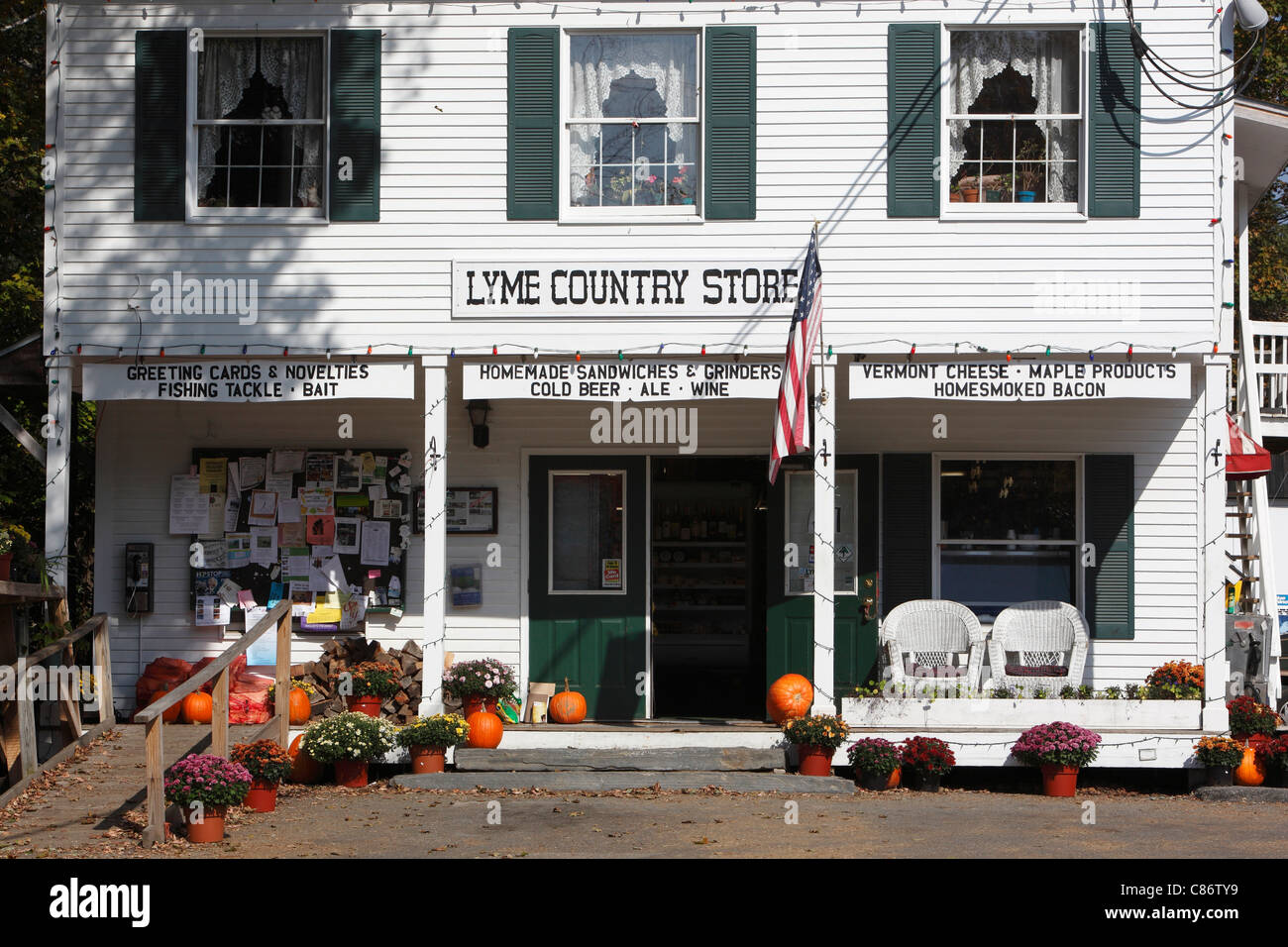 Country store, Lyme, New Hampshire, USA Banque D'Images