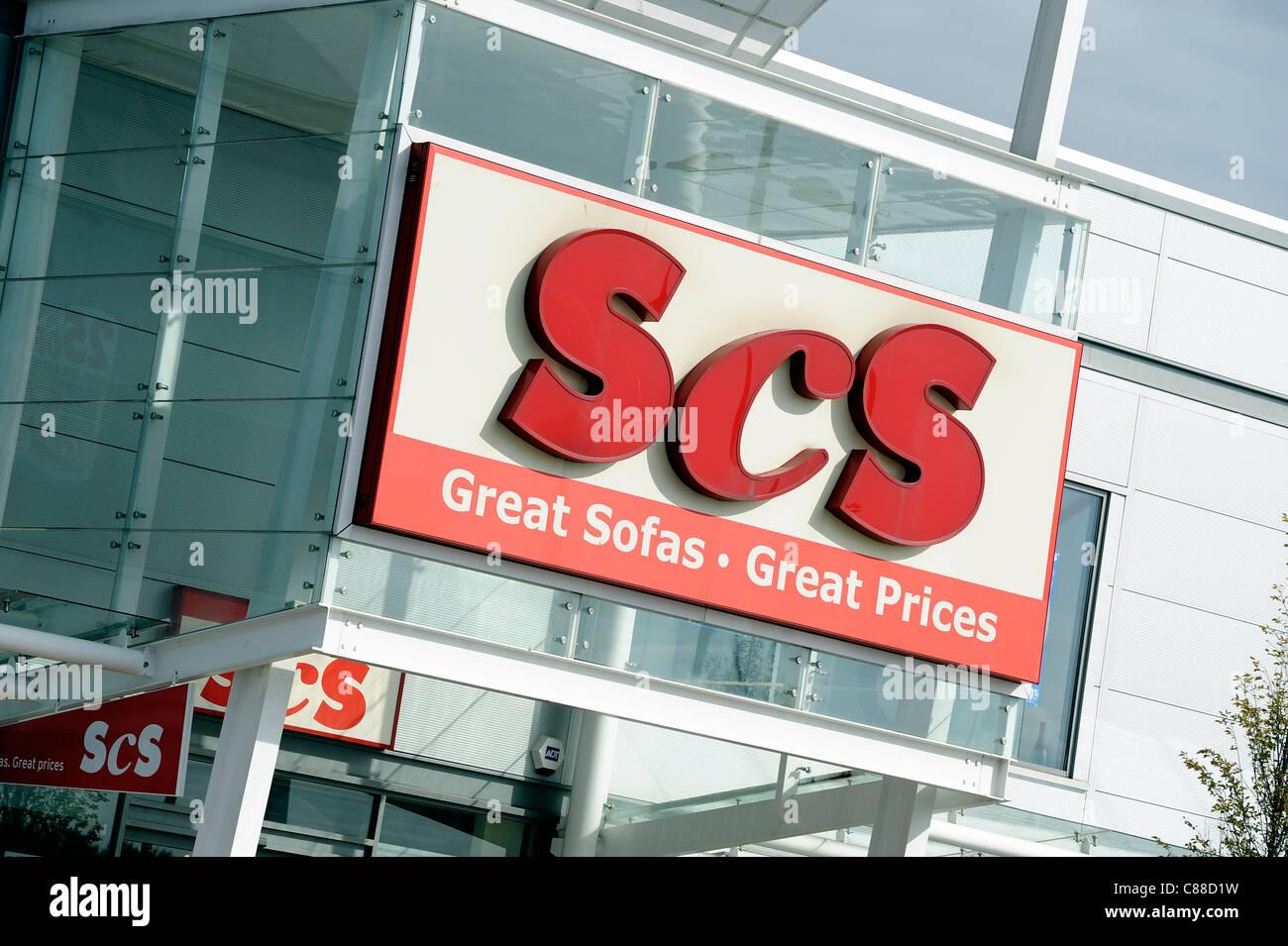 Détaillant scs logo commercial england uk Photo Stock