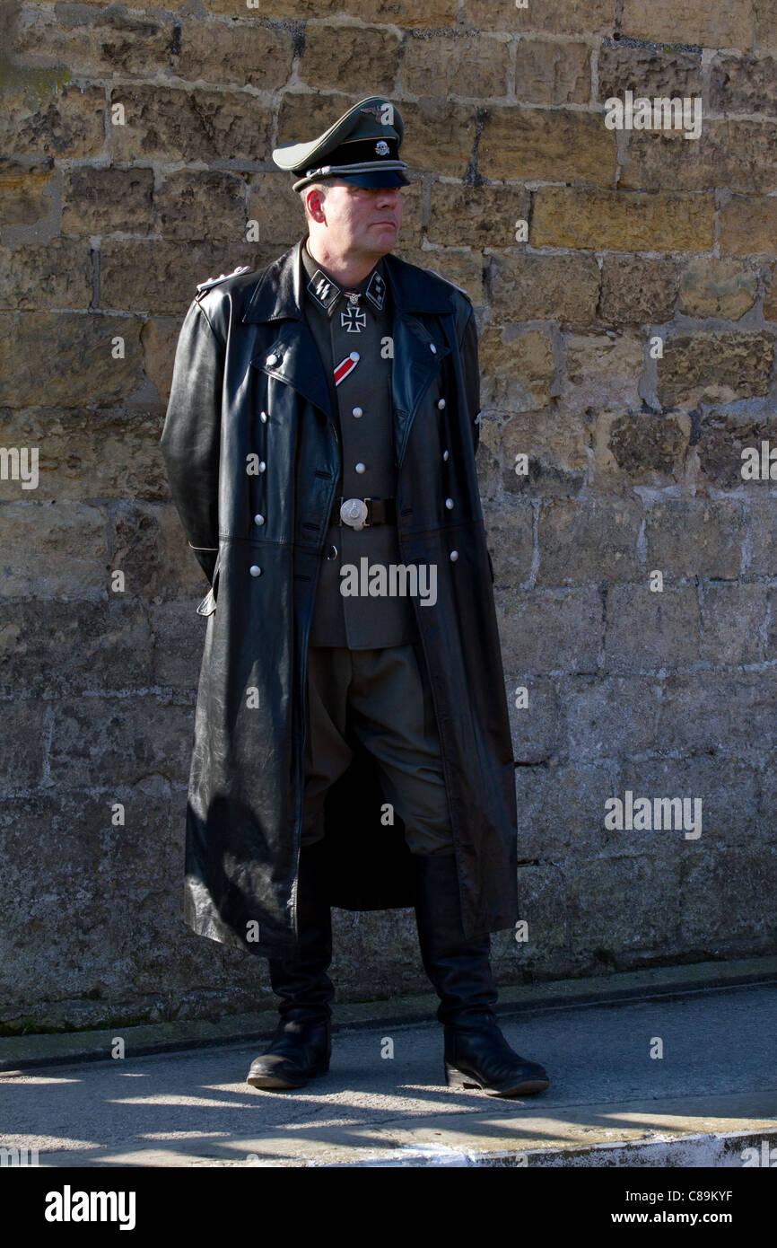 Manteau long croise homme