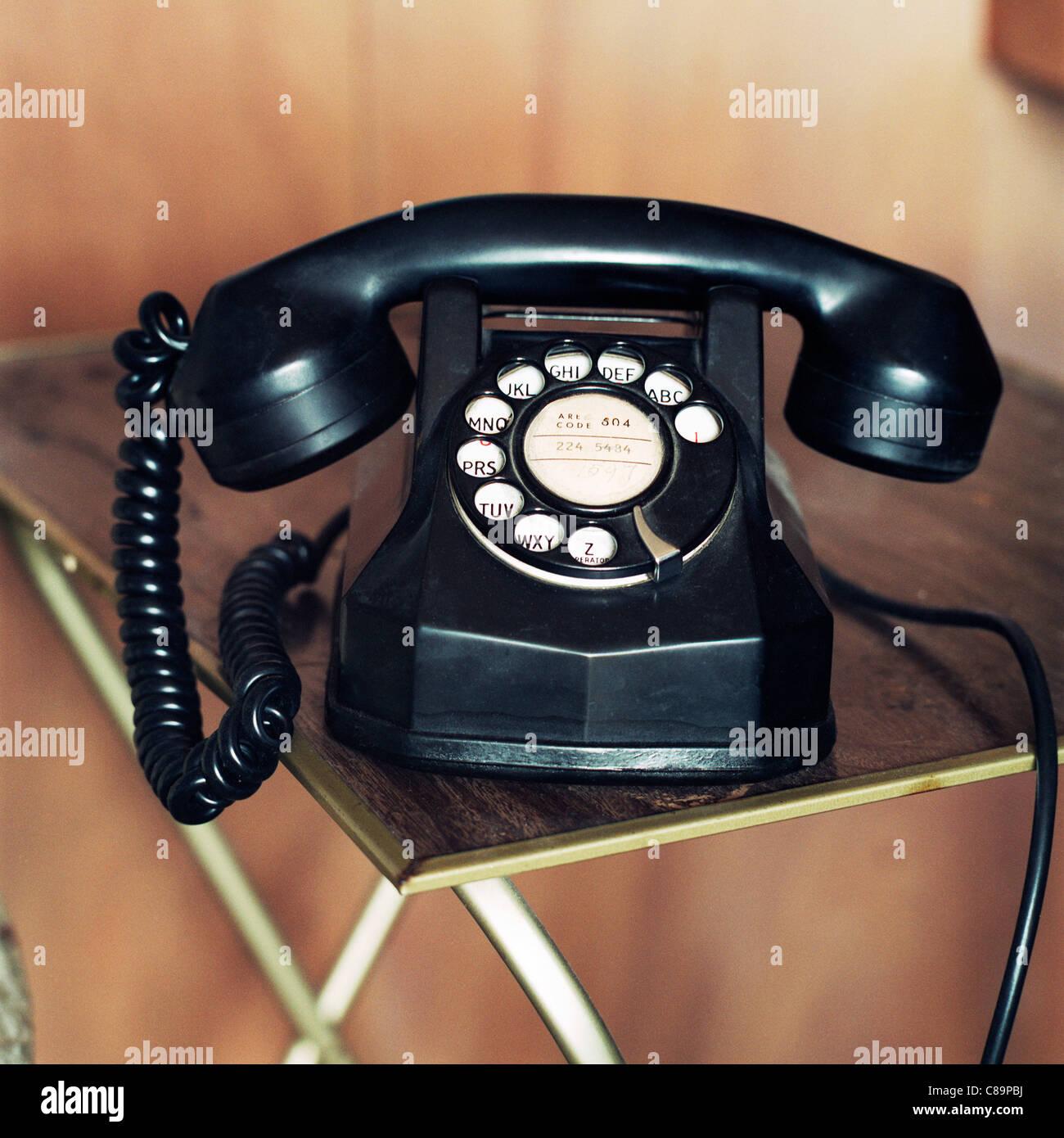 Vintage Retro antique téléphone Photo Stock
