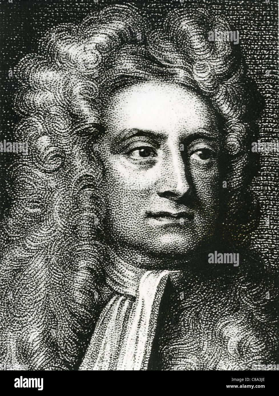 ISAAC NEWTON (1642-1727) Physicien anglais, mathématicien et astronome Photo Stock