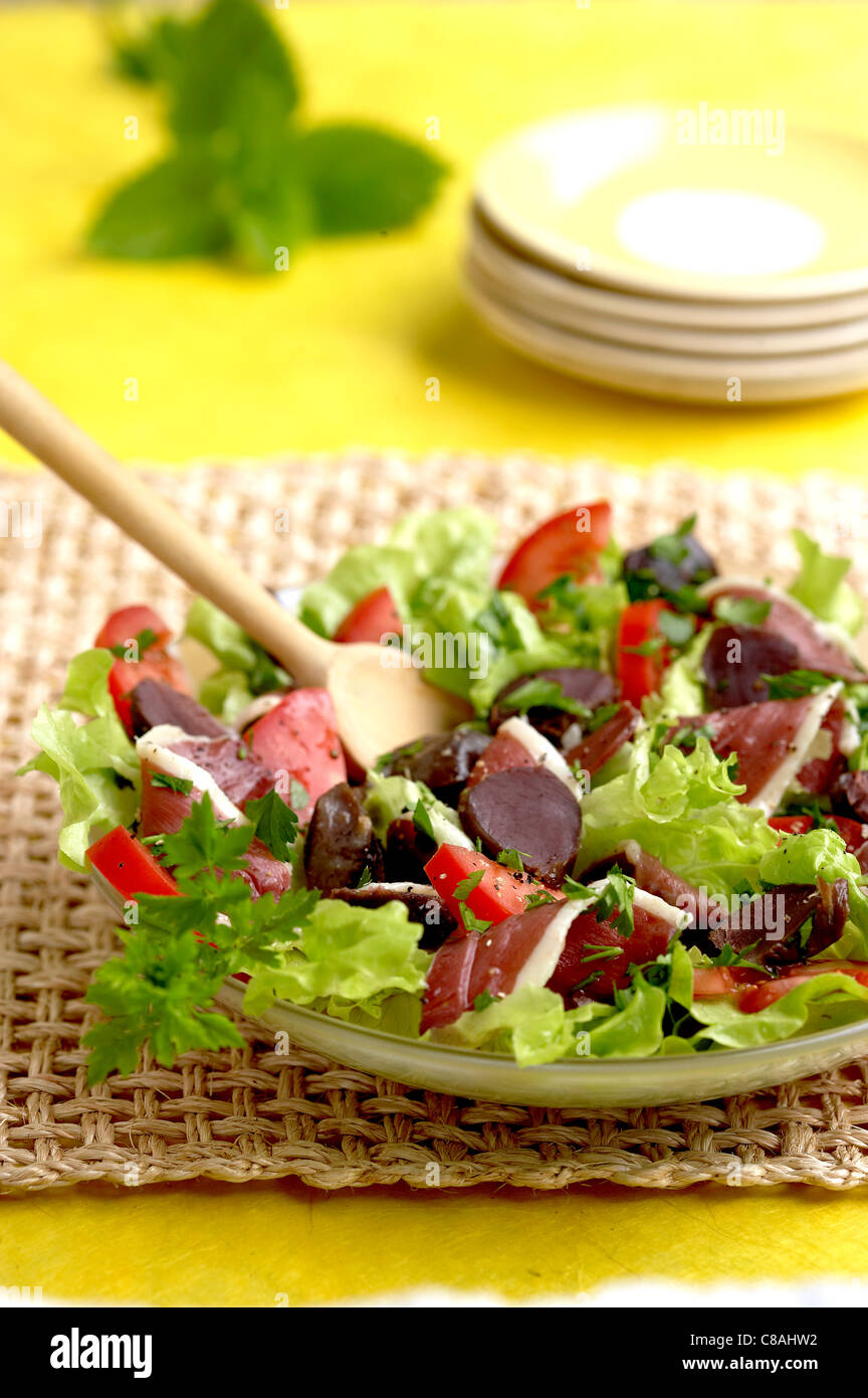 Les Landes de salade Photo Stock