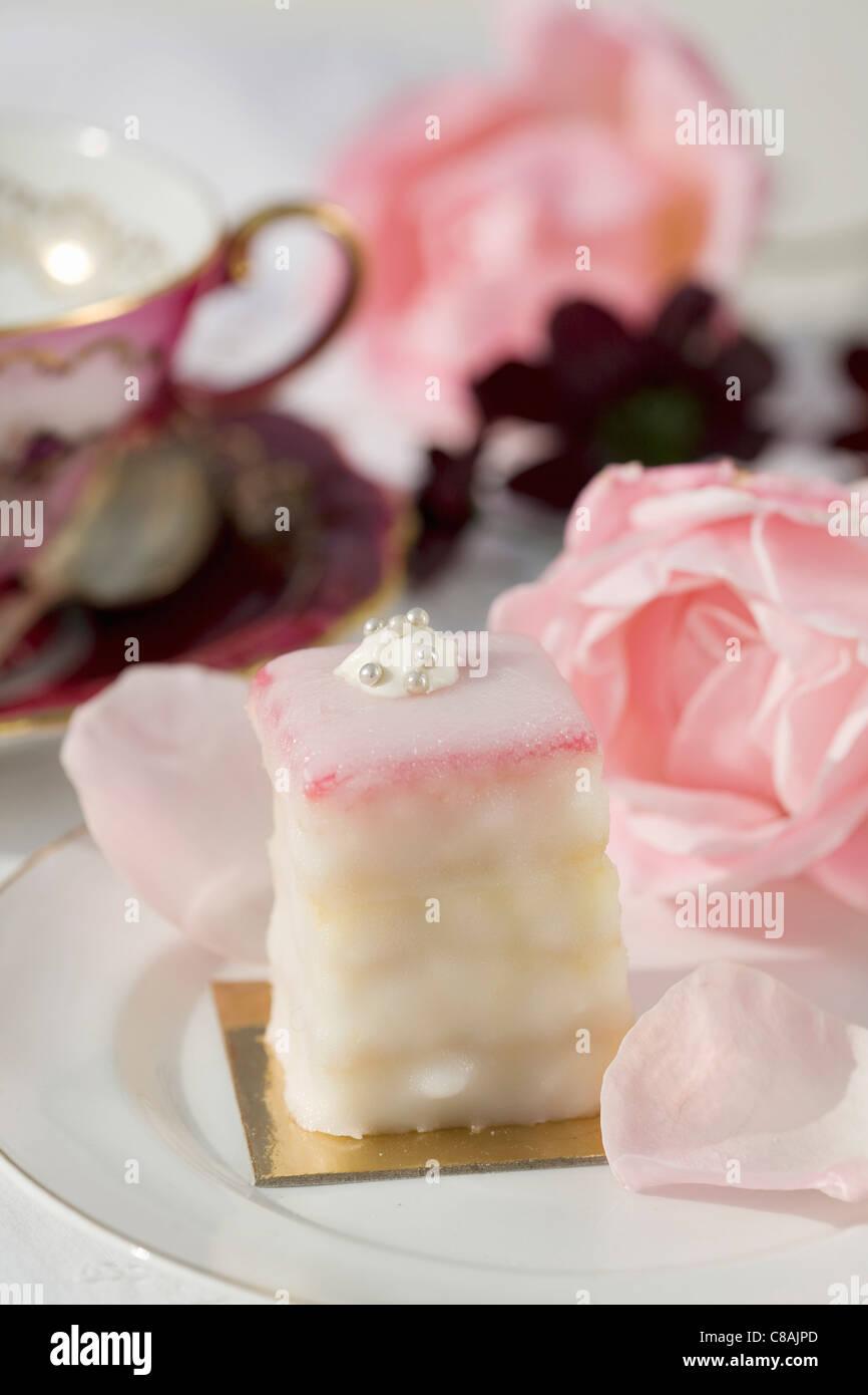 Bouchées à saveur de gâteau rose Photo Stock