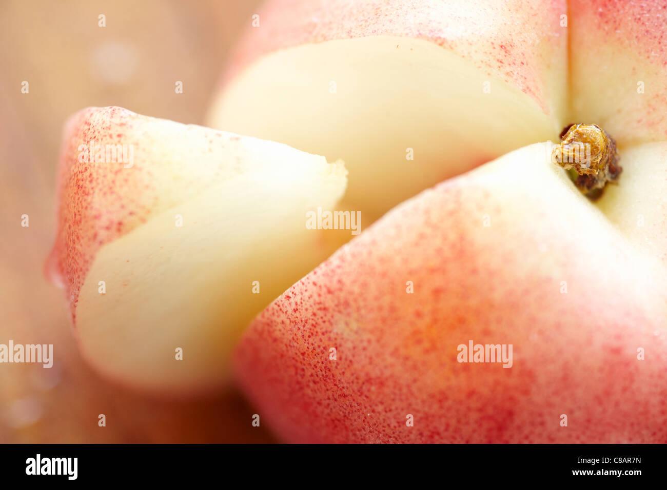 White peach Photo Stock