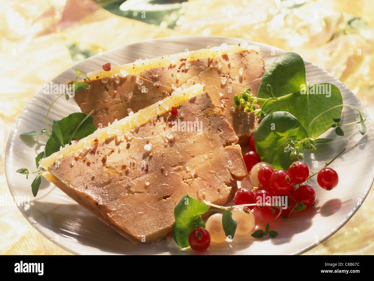 Terrine de foie gras des Landes Photo Stock