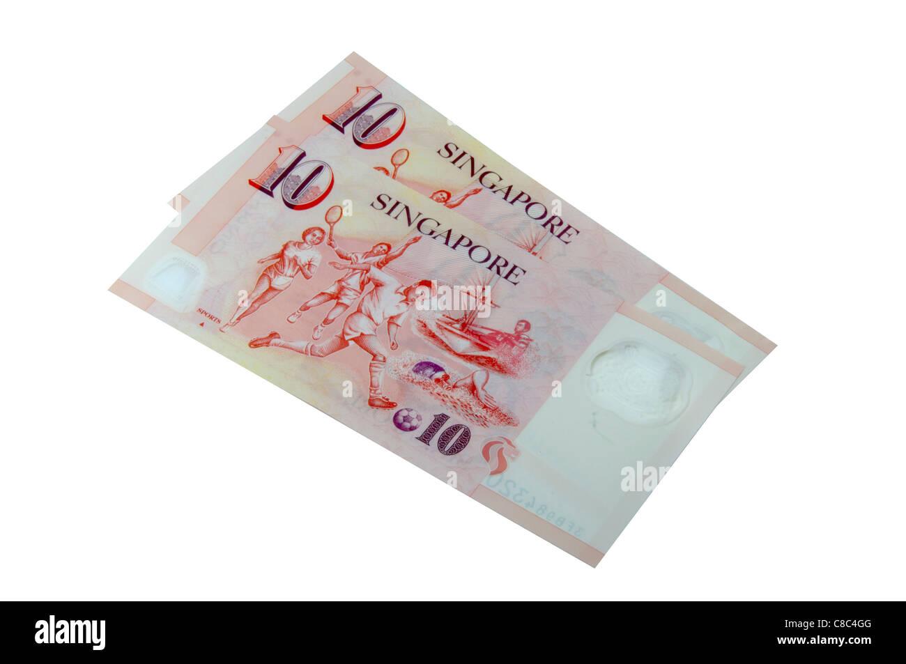 Dix dollars de Singapour Photo Stock