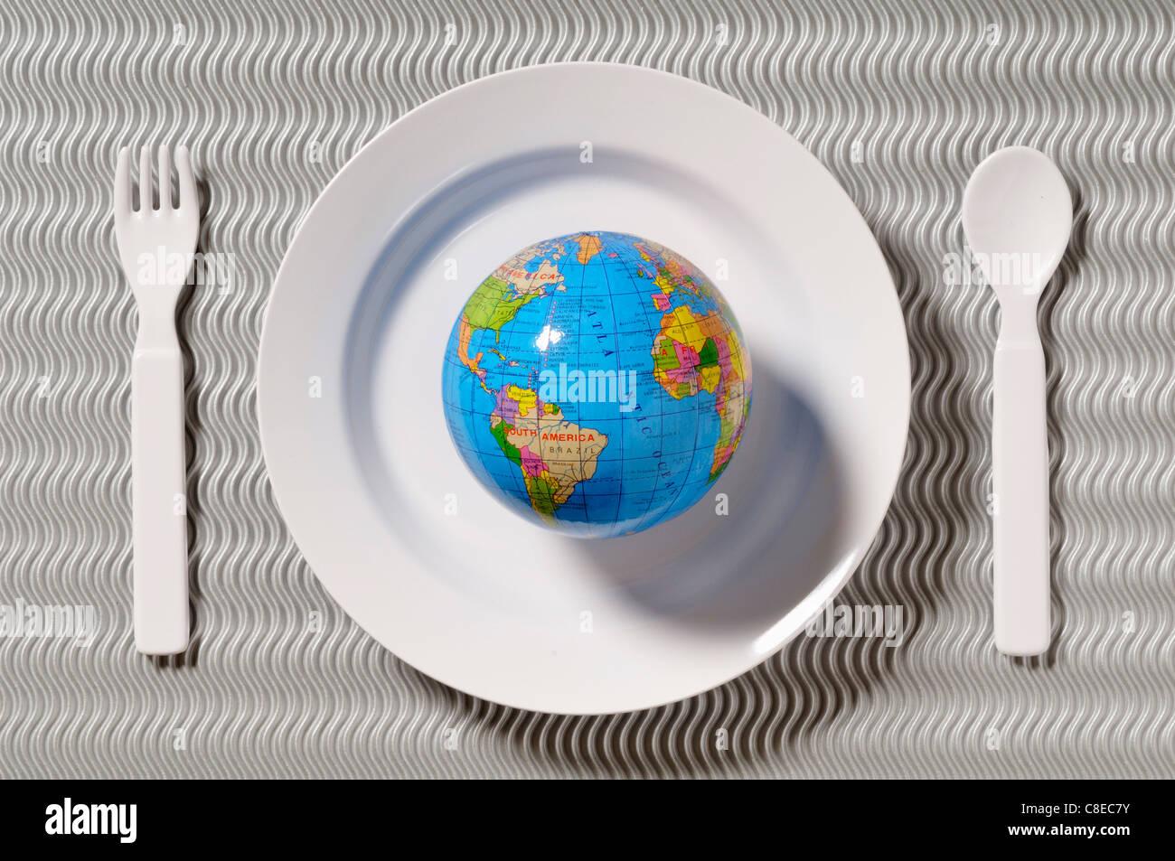 La faim dans le monde Photo Stock
