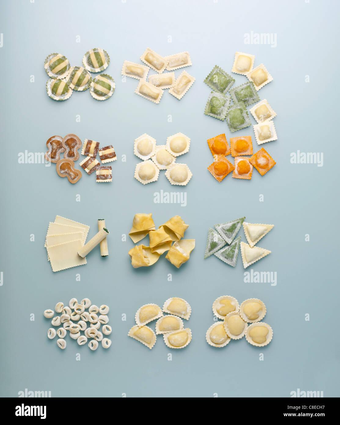 La composition des pâtes Photo Stock