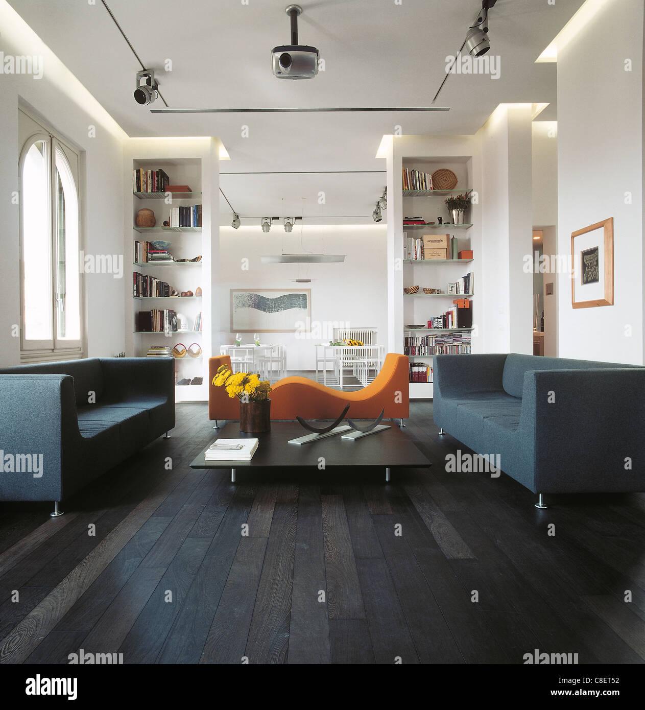 Interieur D Un Salon Dans Une Maison Contemporaine Avec Meubles De
