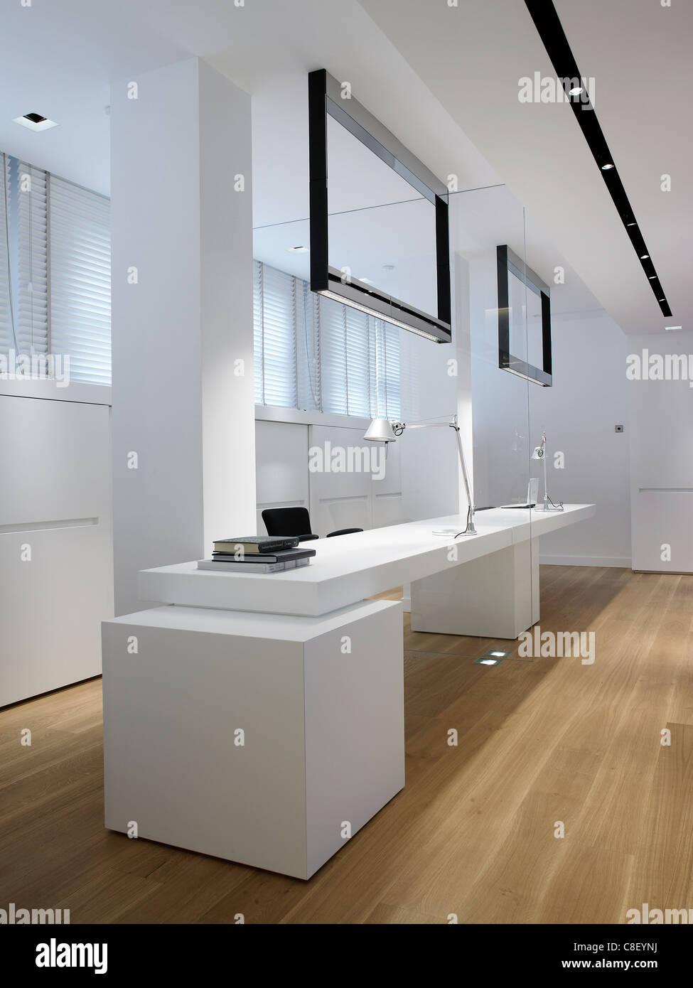Intérieur d'un espace de bureau Photo Stock