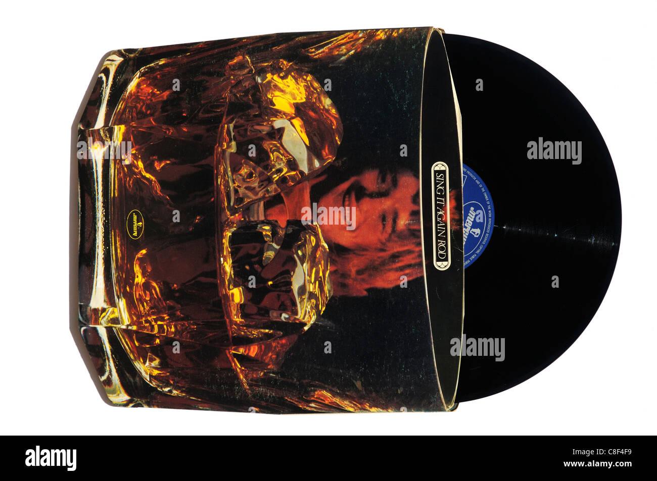 Rod Stewart chanter à nouveau Rod Photo Stock