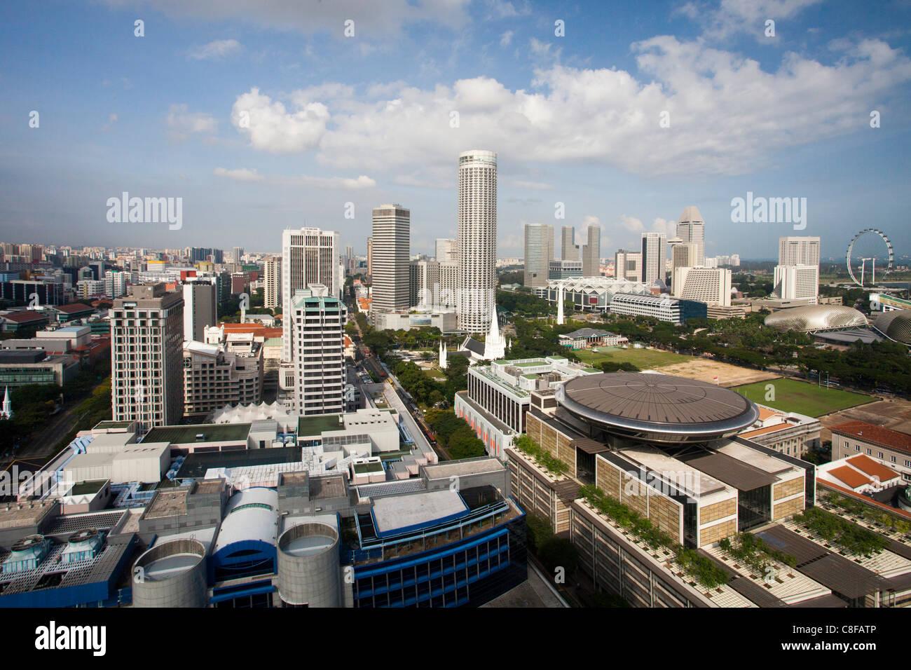 Singapour, l'Asie, la ville, la plus haute cour de justice, sommaire, Skyline, look, bref, d'en haut Banque D'Images