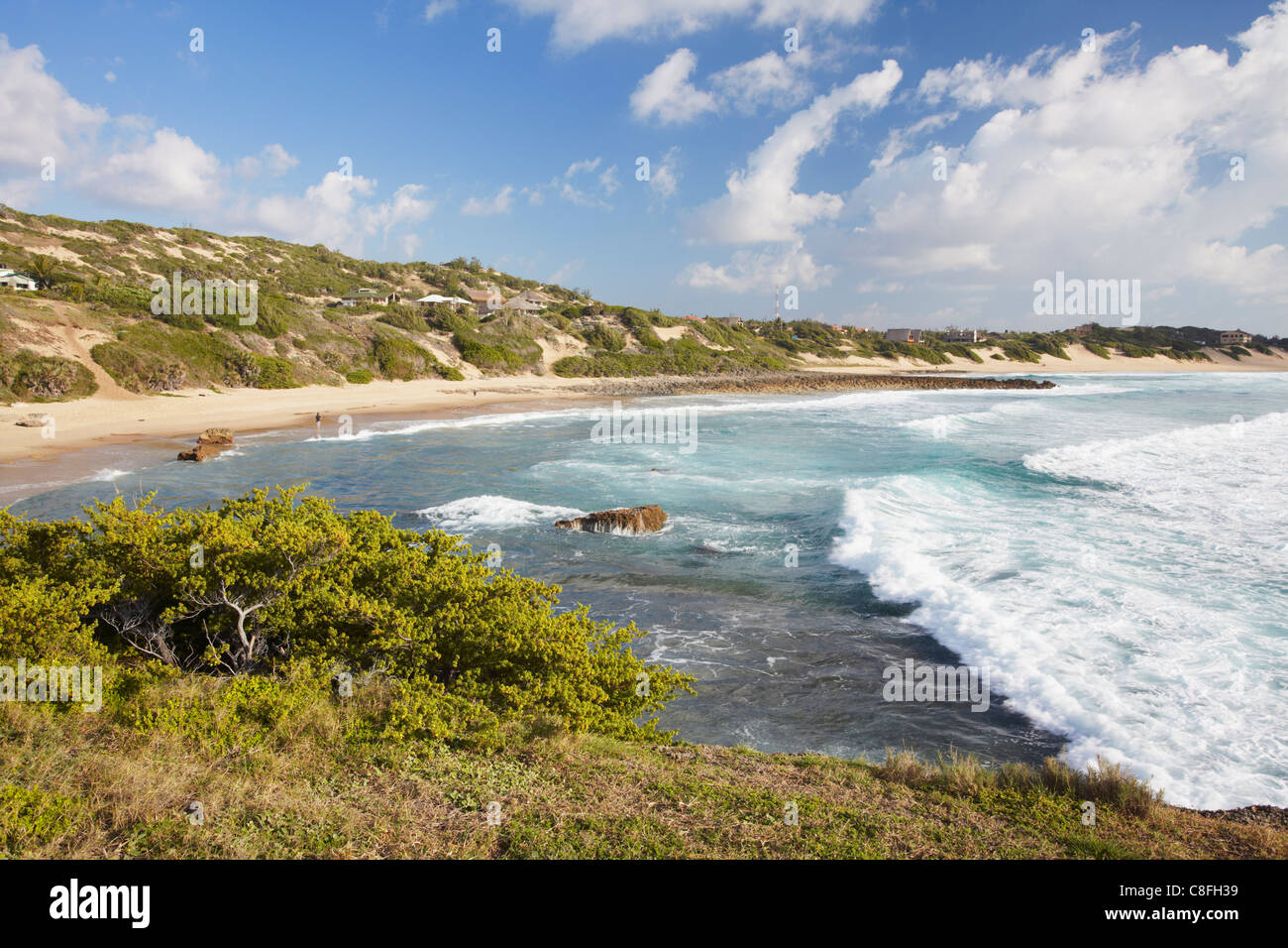 La plage de tofo, Tofo, Inhambane, au Mozambique Photo Stock