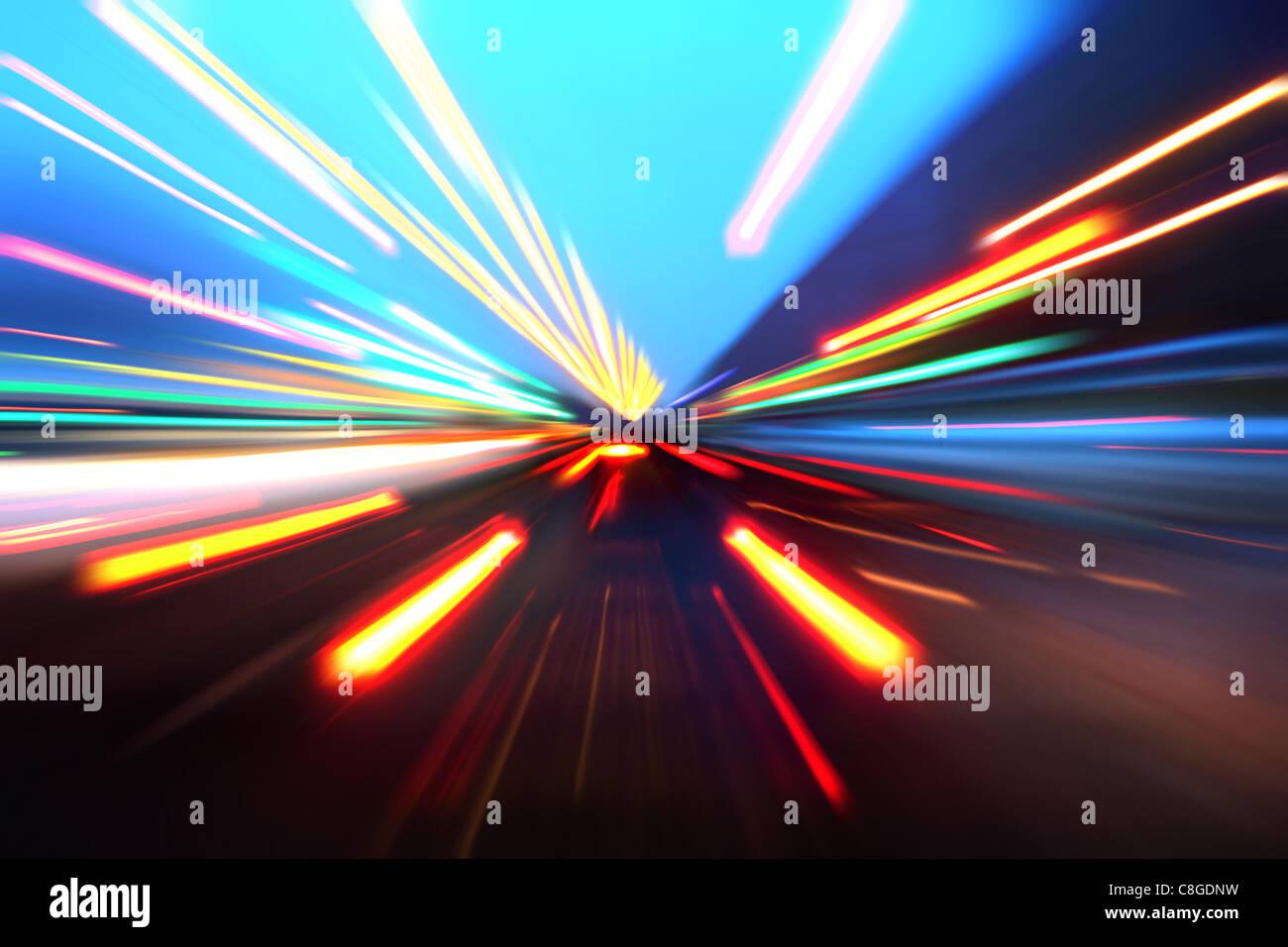 Vitesse d'accélération sur la route Photo Stock